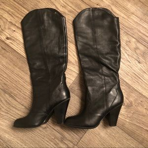 Western Dolce Vita Leather Pax Knee-High Boot